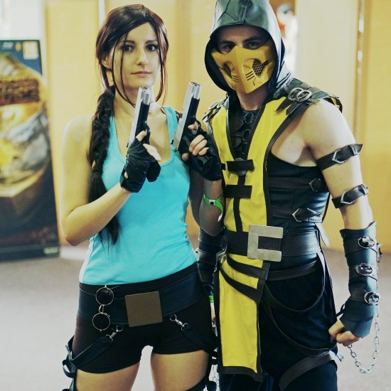 Lara Croft and Scorpion Cosplay @ Comics Salon 2014