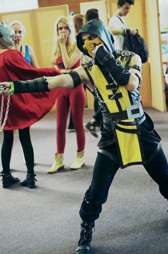 Scorpion, Mortal Kombat Cosplay @ Comics Salon 2014