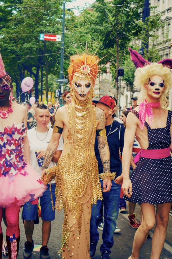 Drag Queen @ Vienna Pride 2014 / Regenbogenparade Wien