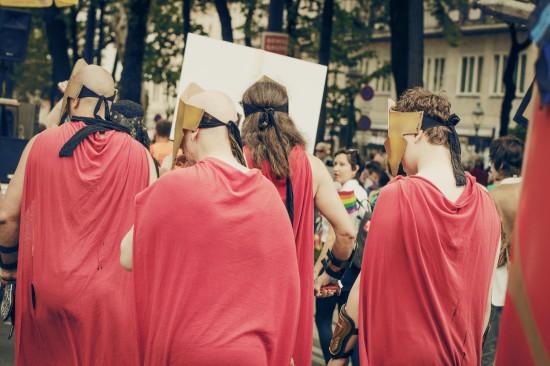 300 Spartans @ Vienna Pride 2014 / Regenbogenparade Wien