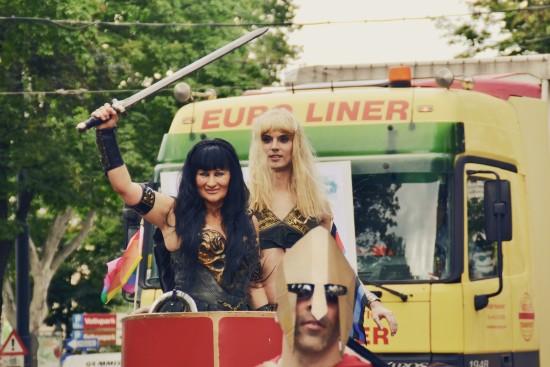 Xena & Gabrielle @ Vienna Pride 2014 / Regenbogenparade Wien