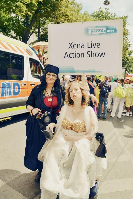 Xena Live Action Show @ Vienna Pride 2014 / Regenbogenparade Wien