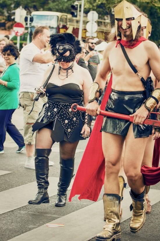 300 Spartan @ Vienna Pride 2014 / Regenbogenparade Wien