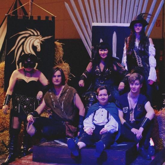 Xena & crew on the Iron Throne @ Mittelalterspektakel 2014 VAZ St. Pölten
