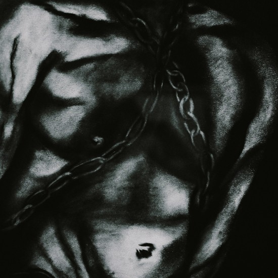 Bondage painting: male in chains. 50 Shades of lisArt by Lisa Grüner.