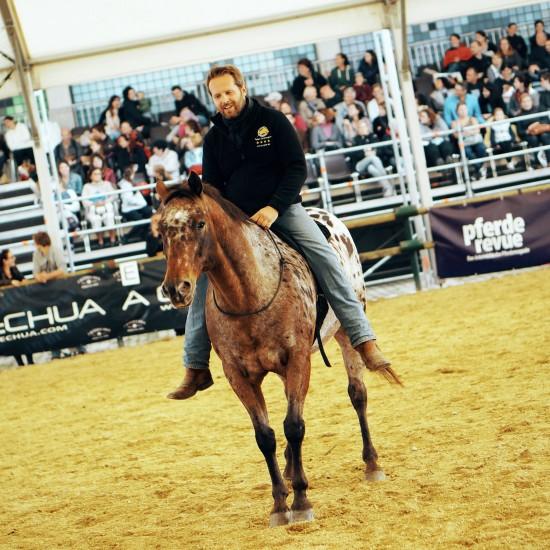 Parelli instructor Michael Grohmann @ Apropos Pferd Horse Fair Arena Nova