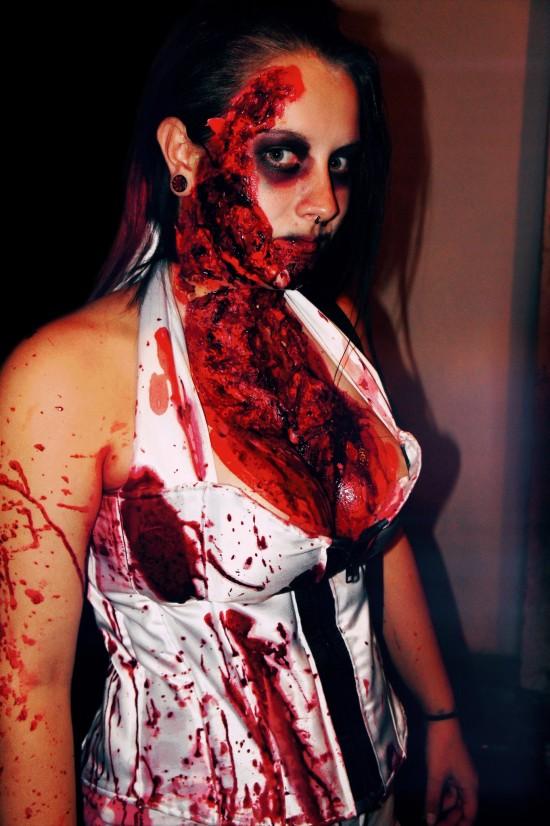 Bloody Halloween Zombie Makeup Fun @ 666 Hell-O-Wien