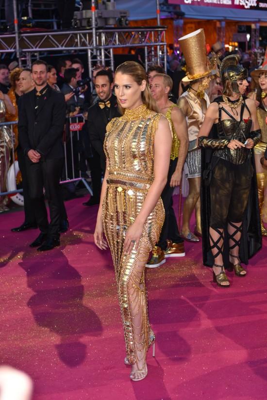 Carmen Carrera in gold @ Life Ball 2015