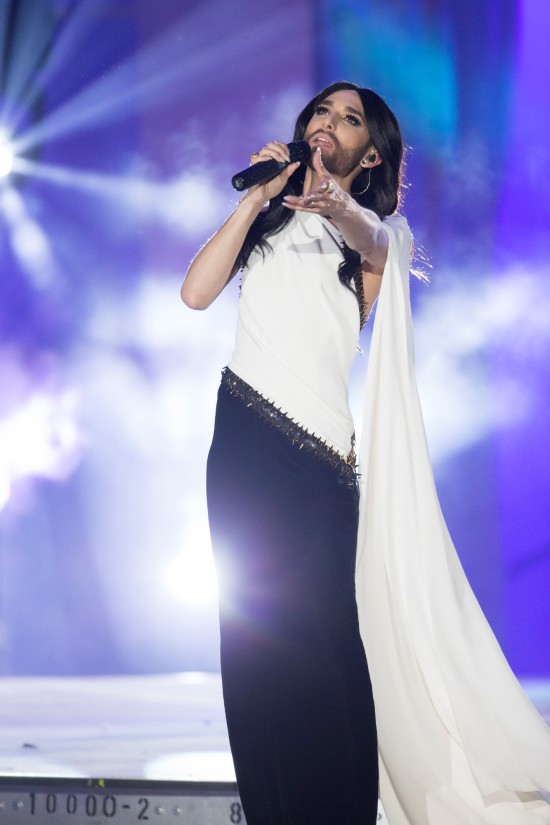 Conchita Wurst performing her new song Firestorm @ Life Ball 2015