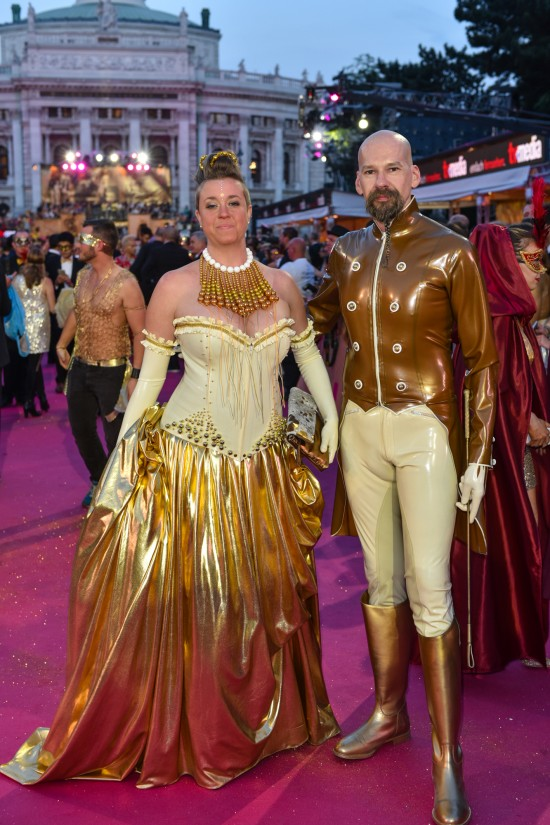 Rubberik latex outfits @ Life Ball 2015