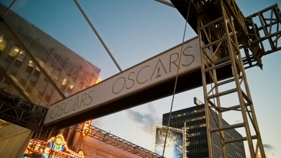 The Oscars tent in front of the Dolby Theater in Los Angeles, California.