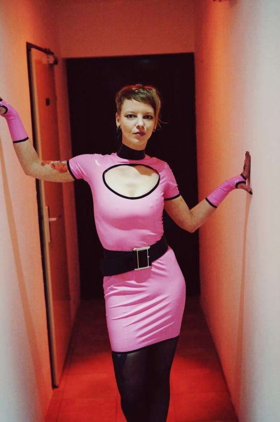 Latex model Jana @ Rubberik Latex Fashion Show at Club Mysticum