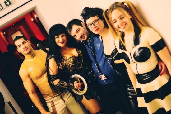 Latex models & Xena @ Rubberik Latex Fashion Show at Club Mysticum