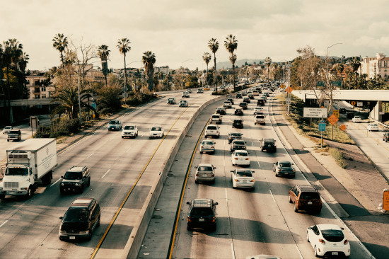 Cars on the 101 Freeway, Los Angeles