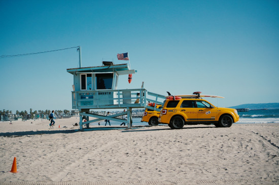 Lifeguard house at Venice Beach, Los Angeles