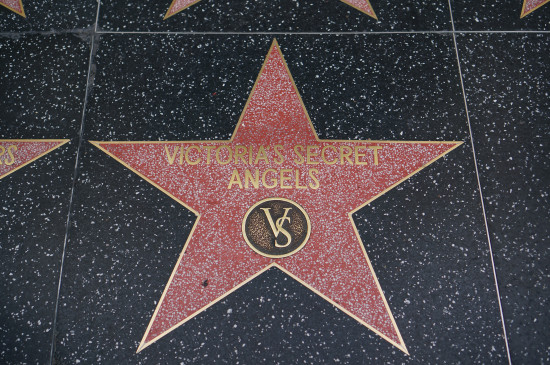 Victoria's Secret Angels star on the Hollywood Walk of Fame, Los Angeles