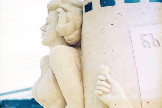 Marilyn Monroe sand sculpture @ Ruse Sandfest