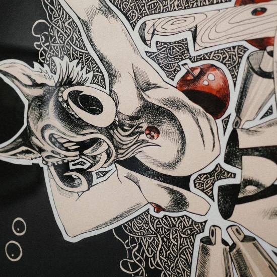 """Painting """"Pegan dance"""" Кукер (Krampus) by Dimitar Sterev"""