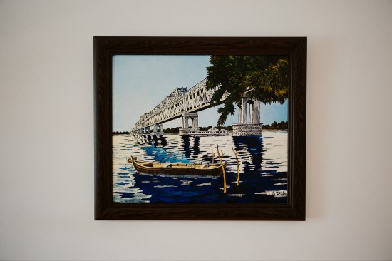 "Painting Ruse Danube Bridge ""дунав мост"" by Dimitar Sterev"