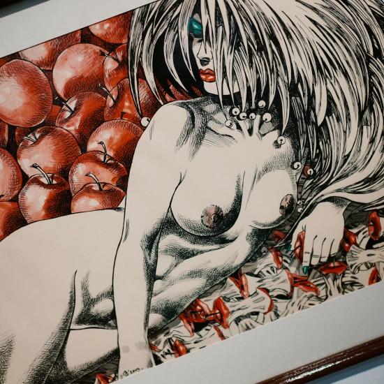 """Painting """"Old Joke"""" Apples & Nude by Dimitar Sterev"""