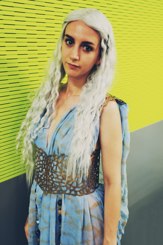 Kahleesi Daenerys Targaryen of Quarth, Game of Thrones cosplay outfit @ AniNite Austria