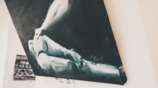 Erotic Art Painting by Dieter Poindl @ Erotica Vienna