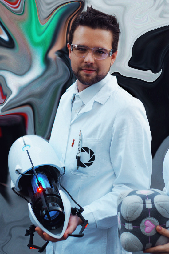Portal cosplay scientist from the Aperture Science Enrichment Center @ Vienna Game City
