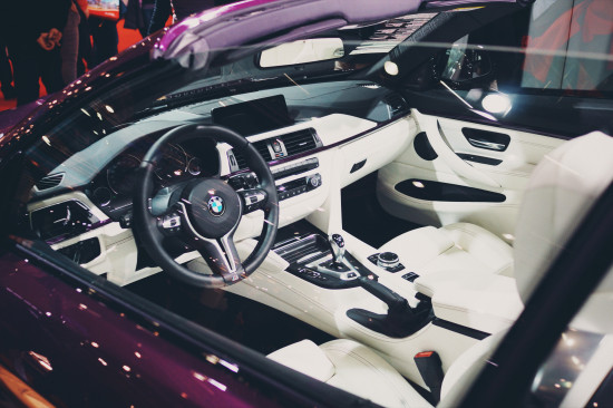 Cockpit view of the BMW M4 Cabrio @ Vienna Auto Show 2017
