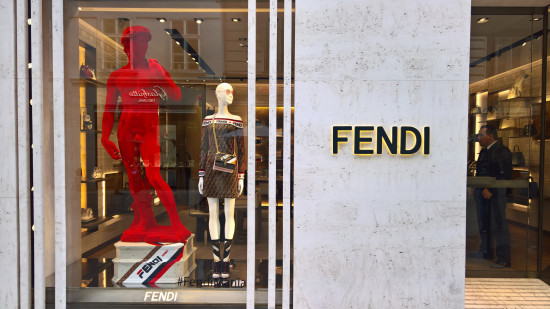 David Michelangelo Statue in the store display of FENDI in Vienna