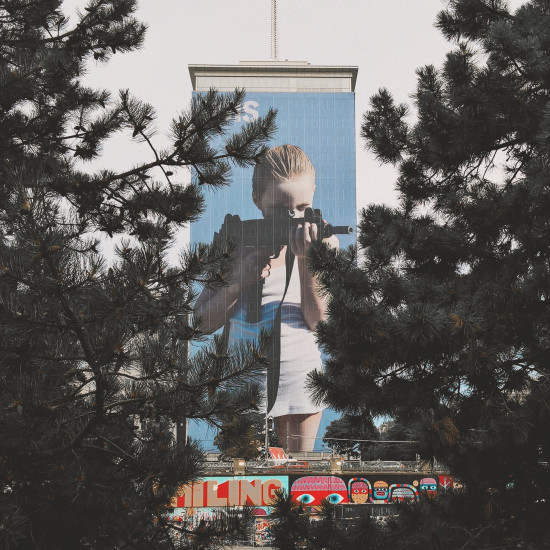 I Saw This Helnwein Ringturm Photo Wrapping Vienna 2018