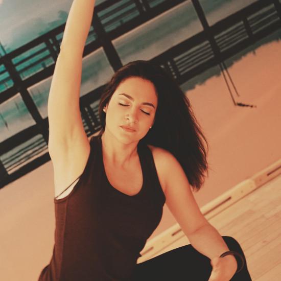 Upper-body Stretch Yoga Pose by Maria Sokolova