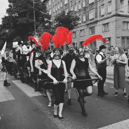 Ponies at the Rainbow Parade, Regenbogenparade, Euro Pride Wien 2019