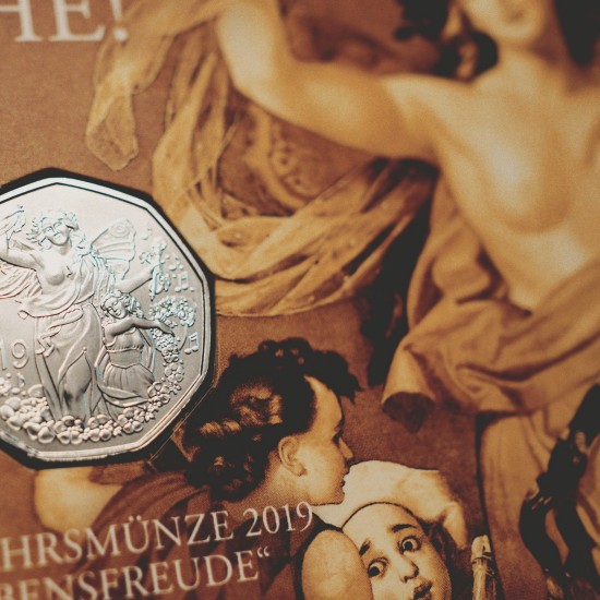 Neujahrsmünze Münze Österreich 2019 in Silber | New Year Coin Austria 2019 in Silver