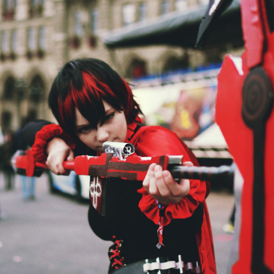 Ruby Rose RWBY Cosplay @ Vienna Game City 2018