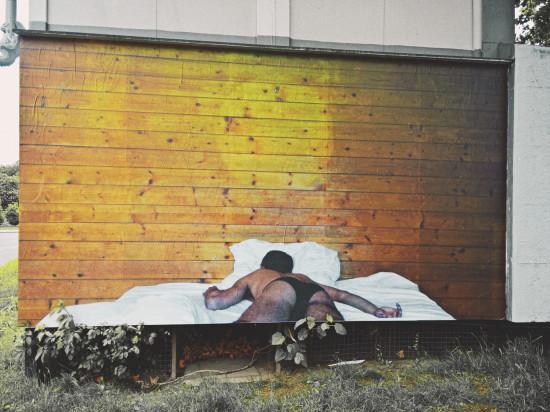 "Artwork ""Subversive Sleep"" by Alaa Abu Asad @ FLUC Vienna"