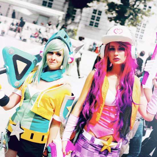 League of Legends Cosplay: Arcade Riven and Arcade Miss Fortune @ Vienna Nippon Nation 2016