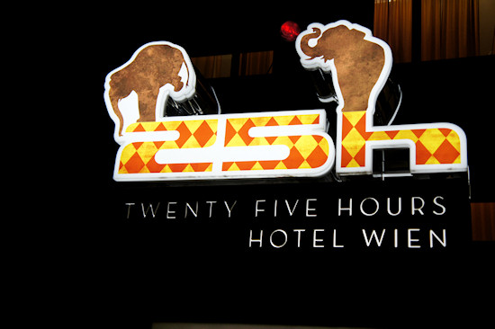 25hours Hotel Vienna Hotel Sign