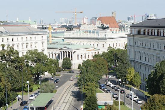 Austrian Parliament Backside View Vienna