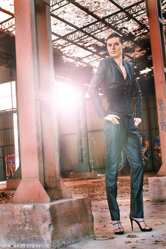 Post-Industrial Times | Photo by artModellFoto | Fashion by Sisley (suit) | Shoes by Hugo Boss