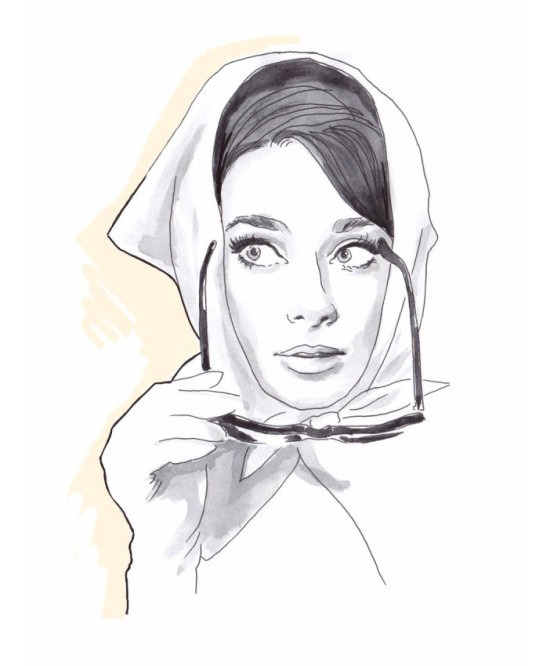Artwork by Lena Ker: Audrey Hepburn