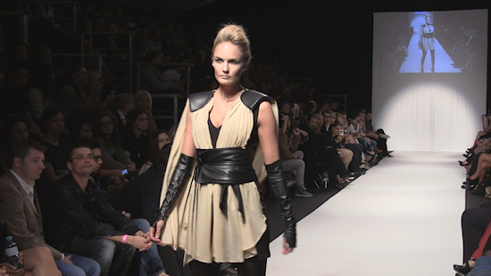 CALLISTI MQ Vienna Fashion Week Gladiator Dress
