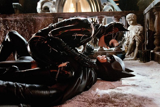 Michelle Pfeiffer and Michael Keaton in Batman Returns