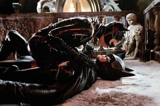 Michelle Pfeiffer and Michael Keaton in Batman Returns