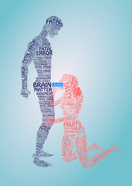 Typography Ad: Type Sex With Durex