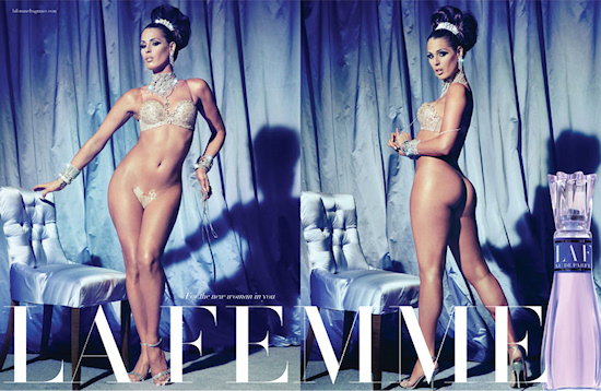 La Femme Carmen Carrera: Fake Ads by Steven Meisel