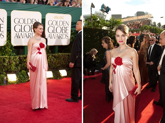 Golden Globe Awards 2011 Natalie Portman Rose Dress