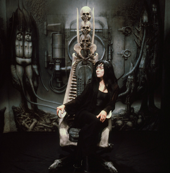 HR Giger Debbie Harry on a Hakronnen-Capo-Chair
