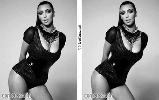 Kim Kardashian Before/After Photoshop