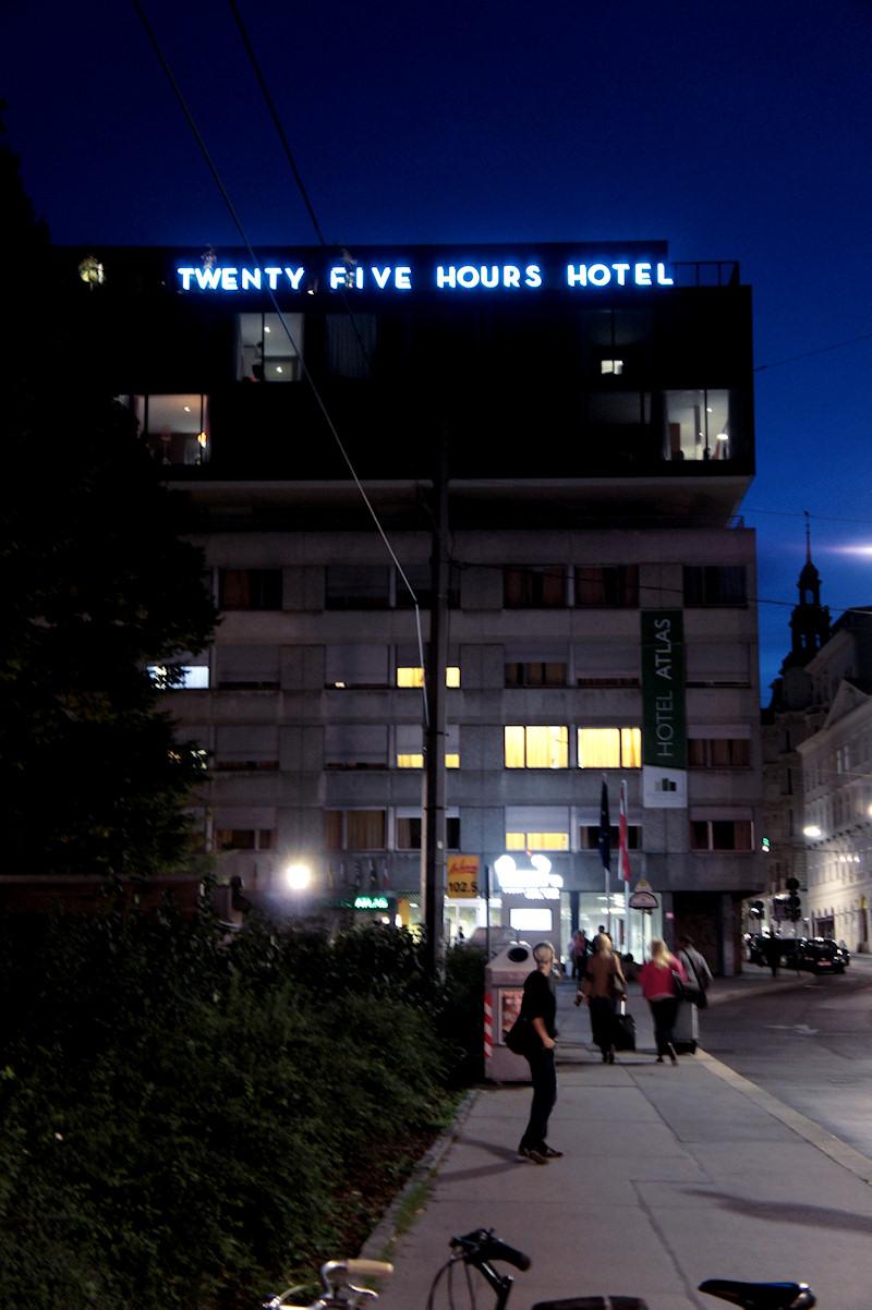 25hours hotel vienna at night viki secrets for Design hotel 25 hours vienna
