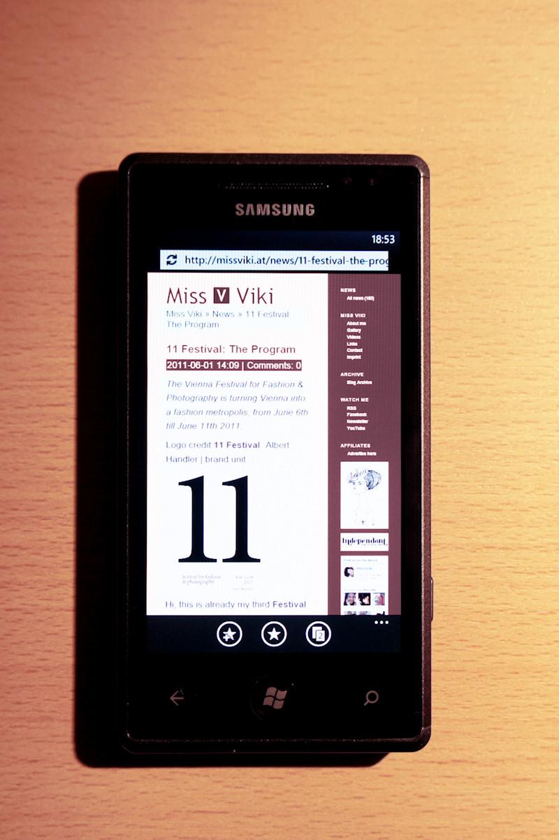 Samsung Omnia 7 Windows Phone 7 IE Mobile